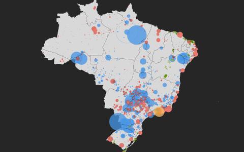 Onde é gerada a energia elétrica no Brasil