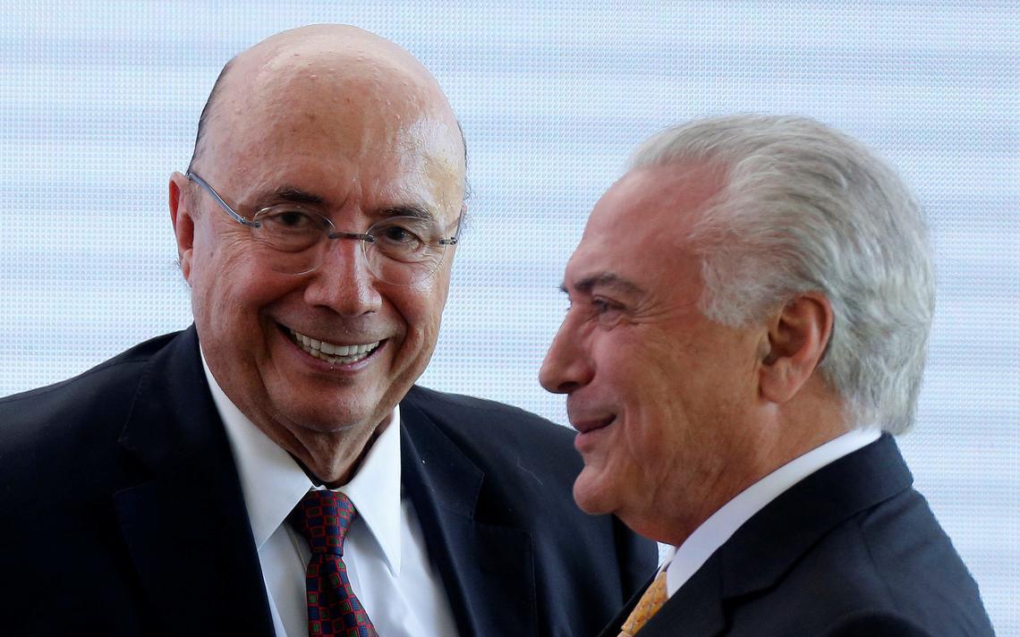 Temer e Meirelles durante evento do MDB que formalizou pré-candidatura
