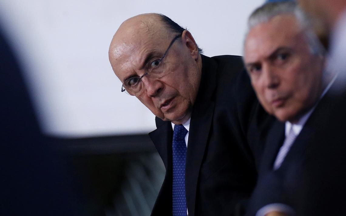 Ministro da Fazenda, Henrique Meireles, e presidente Michel Temer durante encontro com empresários em Brasília