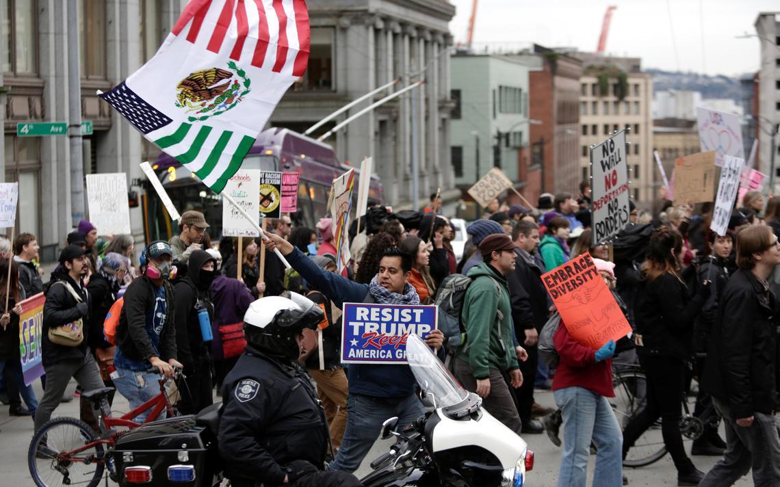 Protesto contra a política migratória de Trump