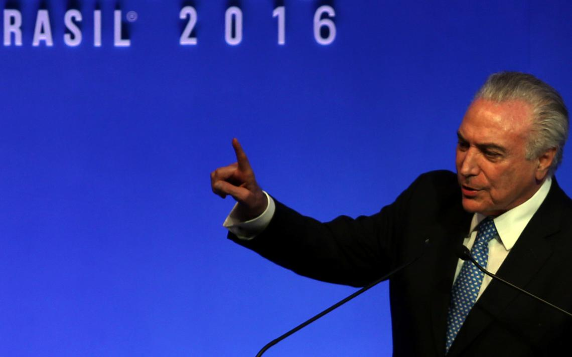 Presidente Michel Temer fala