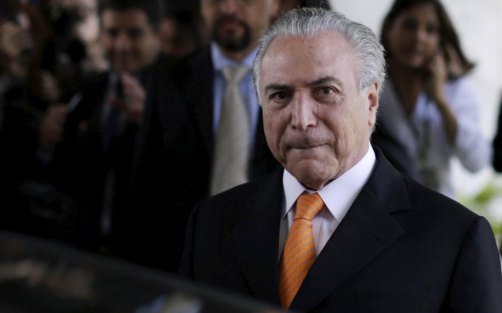 Michel Temer após participar de evento no Palácio do Planalto