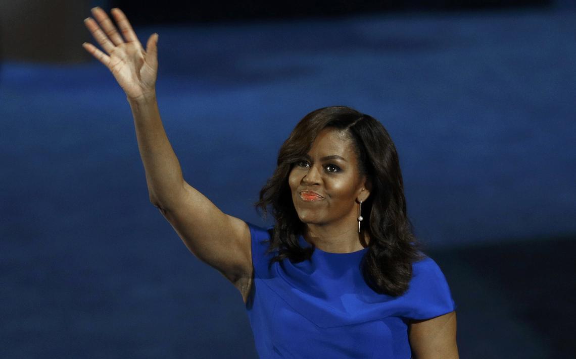 Michelle Obama discursa em evento do Partido Democrático americano que deve confirmar a candidatura de Hillary Clinton à Presidência
