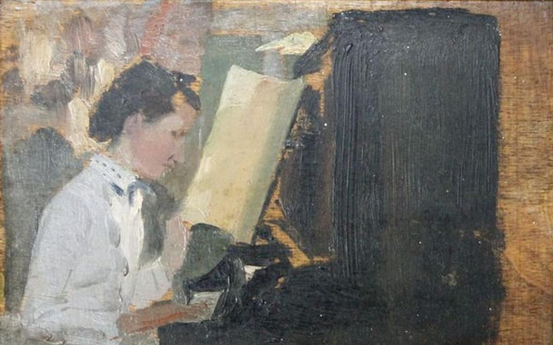'Estudo de Figura Feminina ao Piano', de Rodolfo Amoedo, foi devolvida ao Rio