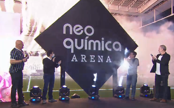 O direito de nome no estádio do Corinthians. E o modelo no Brasil