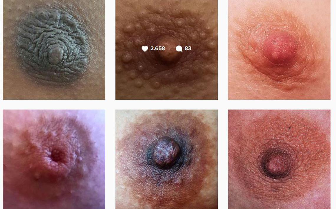 Fotos de mamilos publicados pela conta genderless_nipples