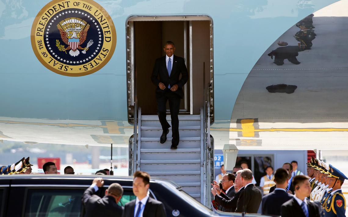 Chegada do presidente americano Barack Obama para G20