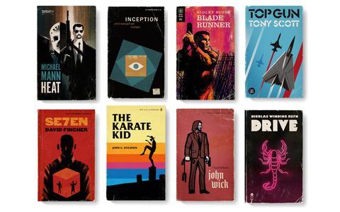 O designer que transforma filmes em capas de livros antigos