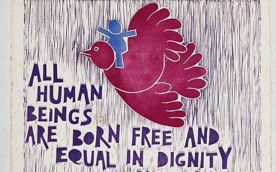 A declaração dos direitos humanos em xilogravuras