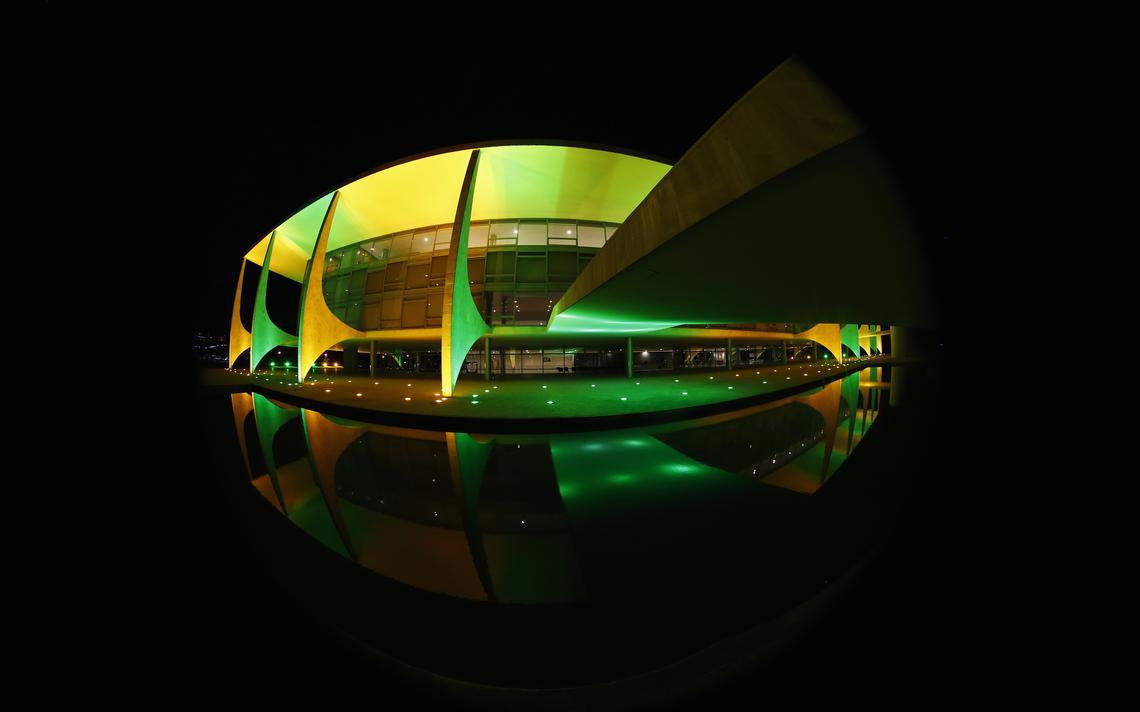 Fachada do Palácio do Planalto, sede do Poder Executivo em Brasília