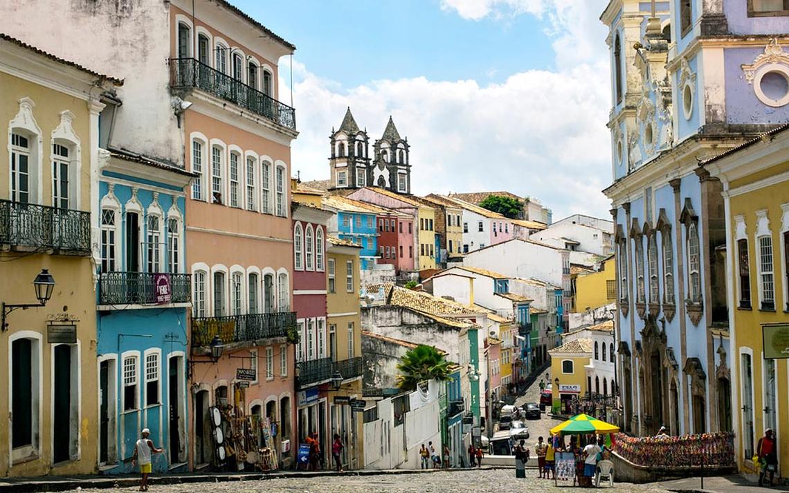 Calçada do Pelourinho, em Salvador