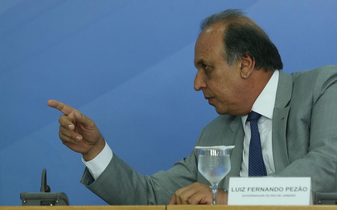 Governador do Rio, Luiz Fernando Pezão, durante reunião em Brasília