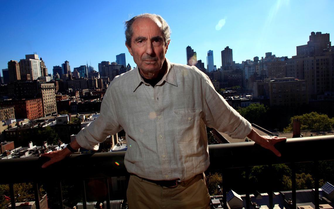 O escritor americano Philip Roth, em Nova York