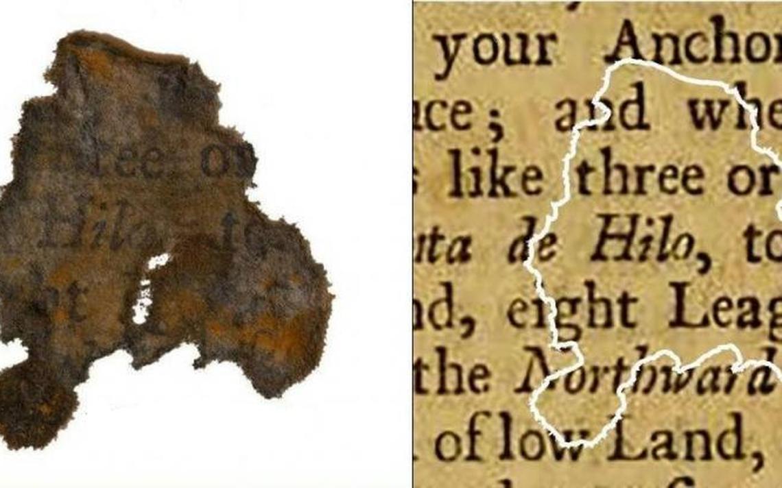 Maior fragmento de papel encontrado tinha o tamanho de uma moeda