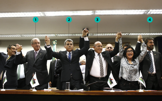 Anúncio do rompimento do PMDB com o governo Dilma