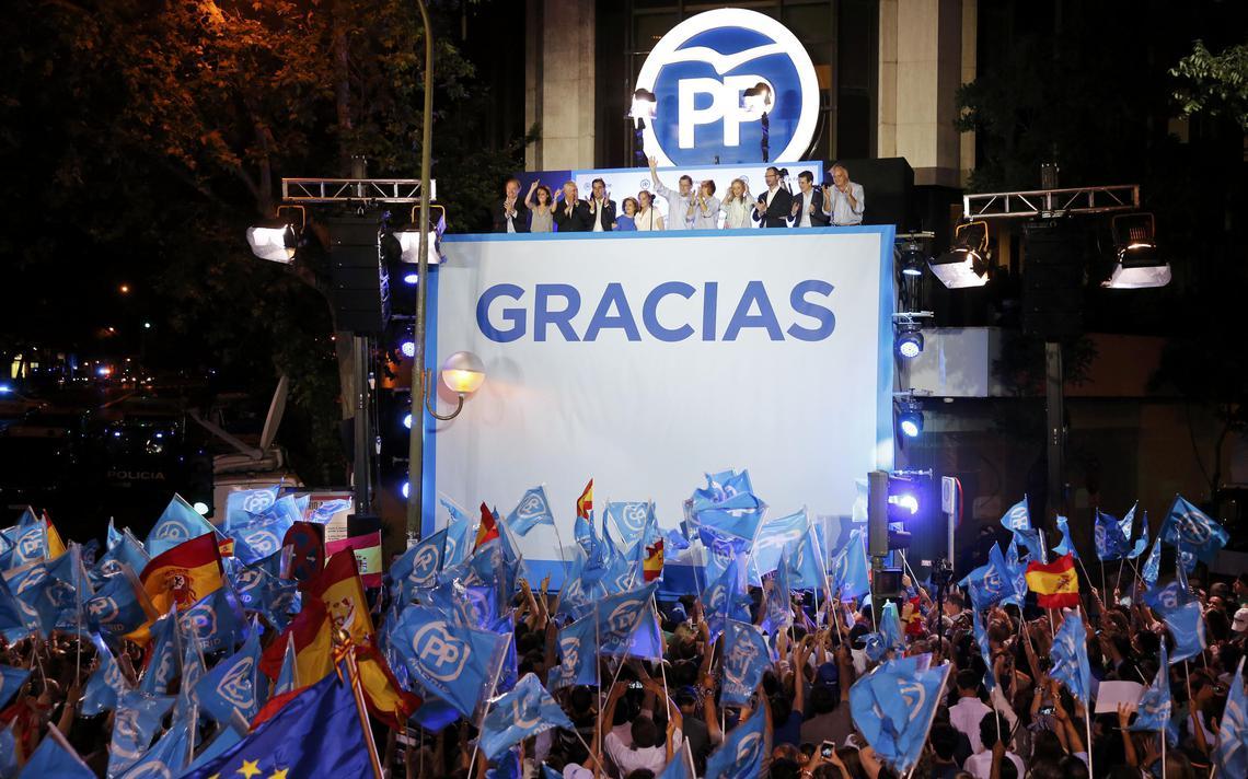 Partido Popular, de centro-direita, foi o que elegeu mais deputados em eleições na Espanha
