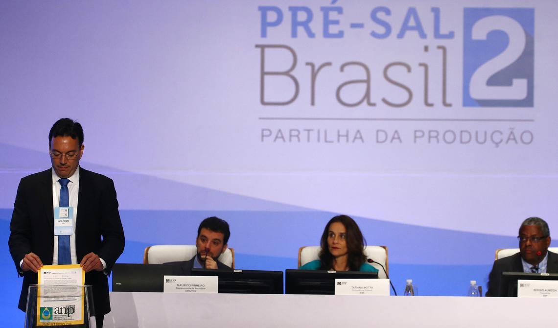 Representante da Shell apresenta oferta para exploração de petróleo em leilão do pré-sal