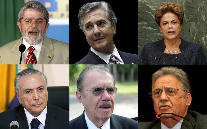 Montagem mostra Lula, Collor, Dilma, Temer, Sarney e FHC