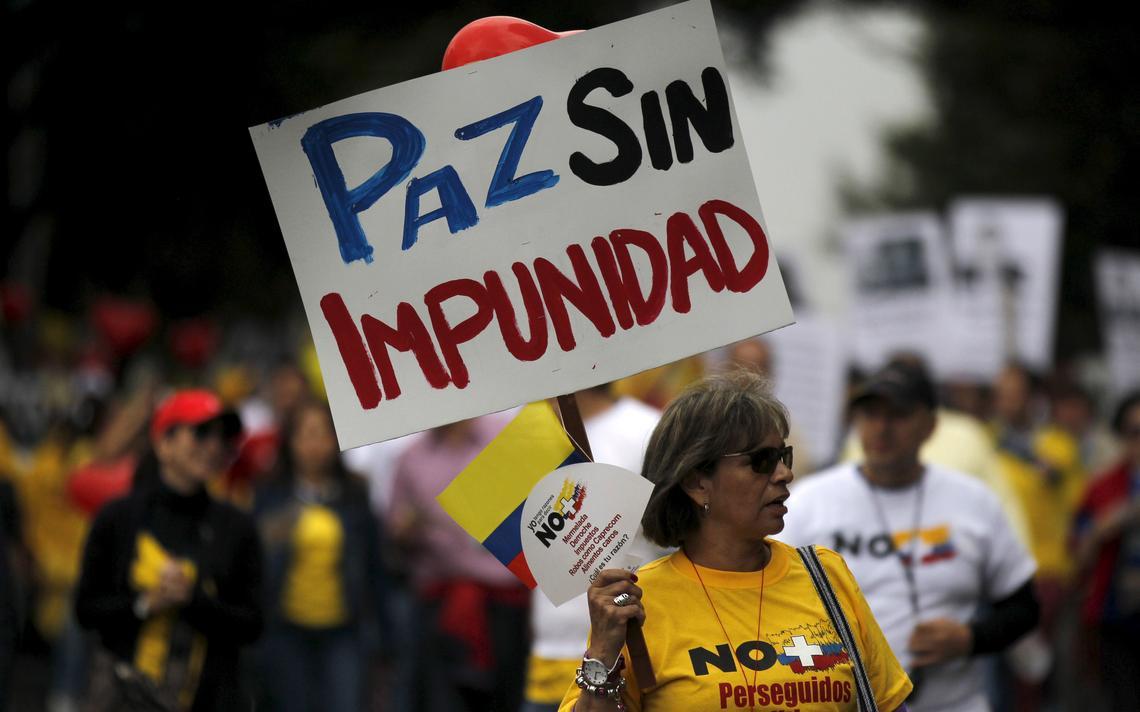 Manifestantes são contra acordos de paz no país