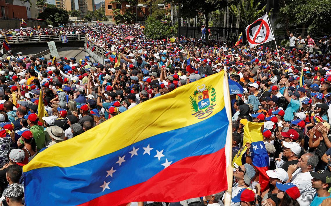 Protesto conta Nicolas Maduro na Venezuela