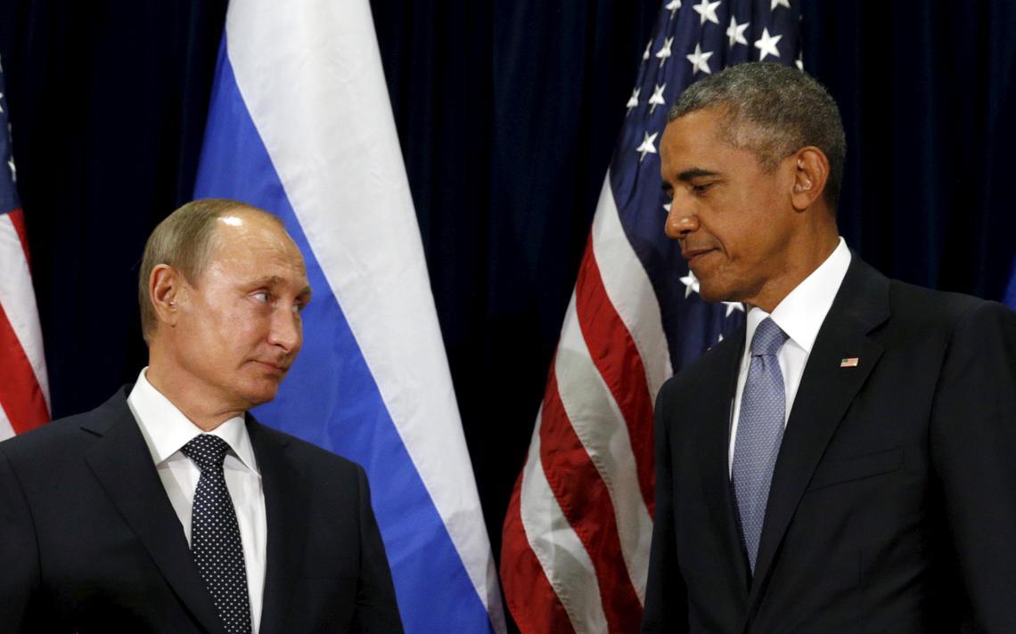 Presidentes russo e americano se encontram em evento internacional