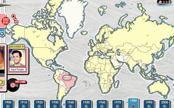 Um mapa e várias décadas: este site quer mudar a forma como você ouve música