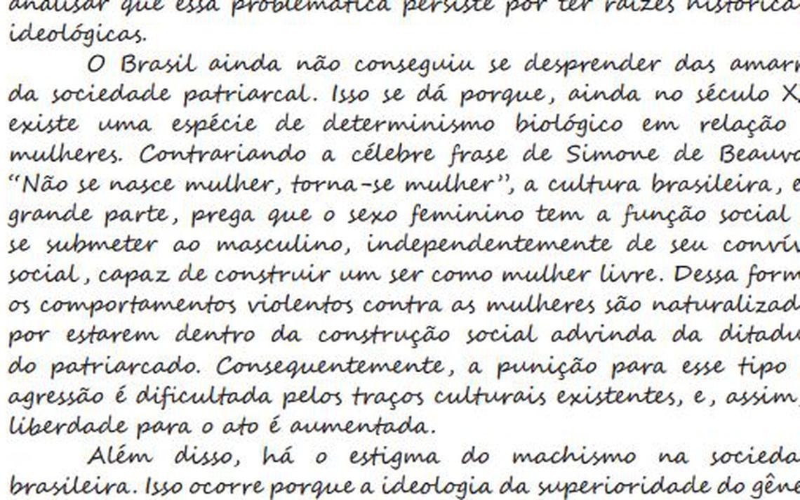 Redação nota 1000 no Enem de 2015 divulgada pelo Inep