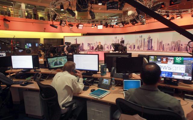 Transmissão de jornal televisivo