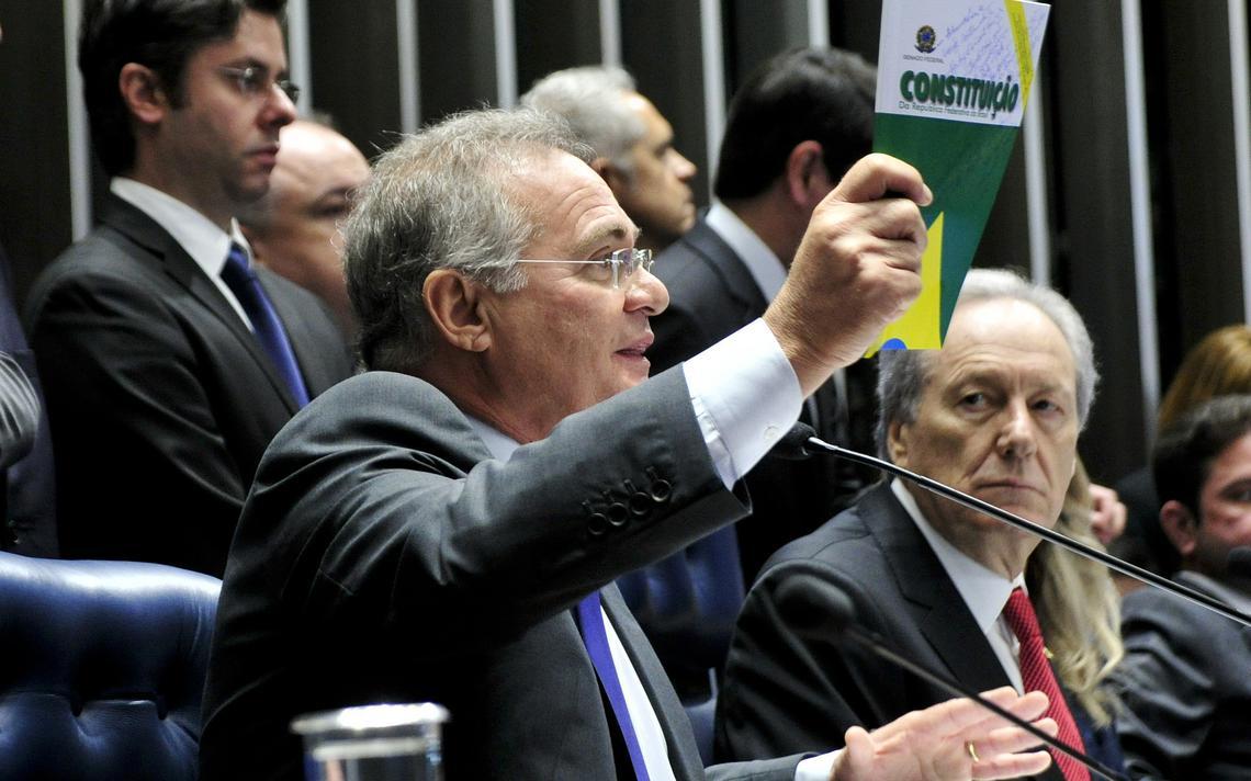 Senador Renan Calheiros e o ministro do Supremo Ricardo Lewandowski