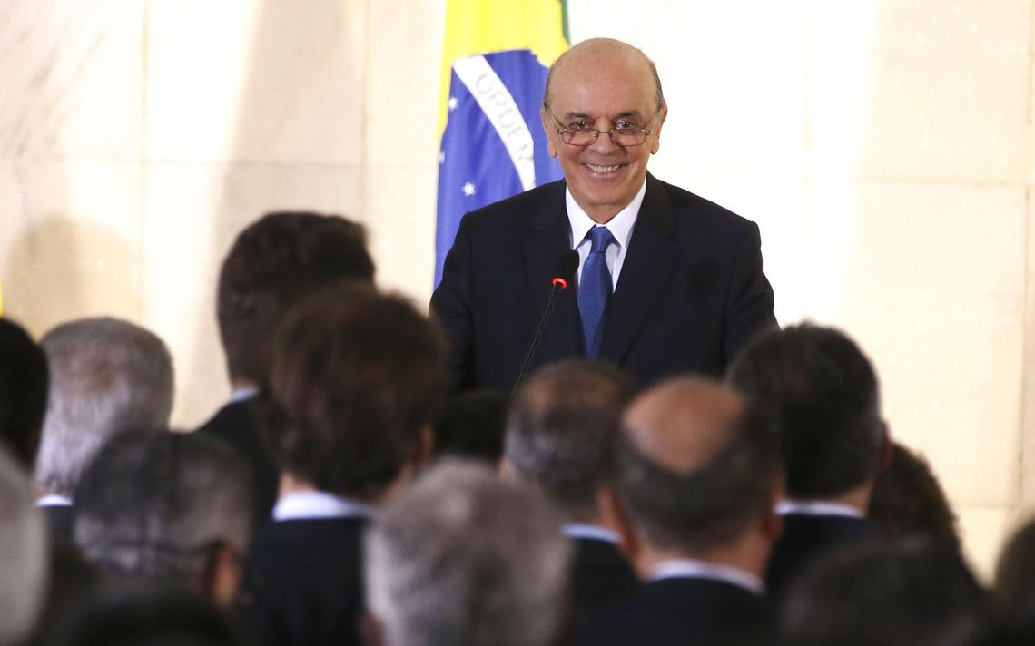 Serra durante evento no Ministério das Relações Exteriores