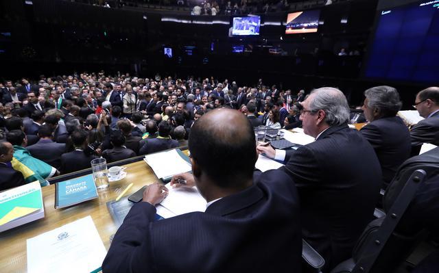 Eduardo Cunha conduziu a mesa em sessão especial