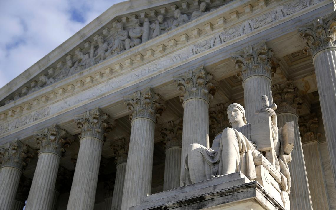 Fachada da Suprema Corte dos EUA,