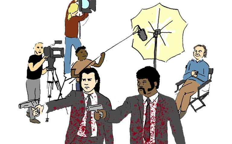 """Ilustração do filme """"Pulp Fiction"""" (1994) de Quentin Tarantino"""