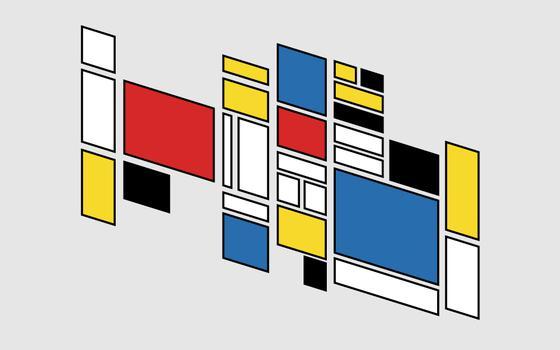 A arte de Mondrian e os artistas do Stijl