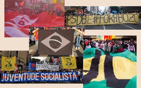 As bandeiras e cores que foram às ruas pelo impeachment