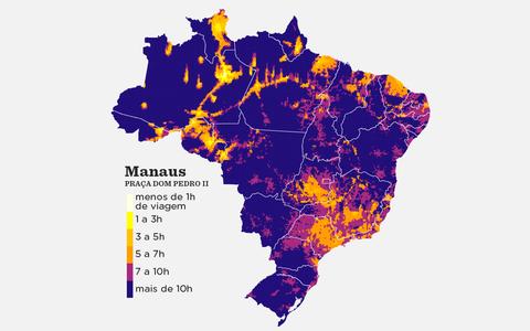 Partidas e chegadas: o tempo de viagem entre diferentes pontos do Brasil