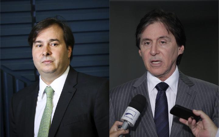 Rodrigo Maia e Eunício Oliveira, favoritos para presidências da Câmara e do Senado