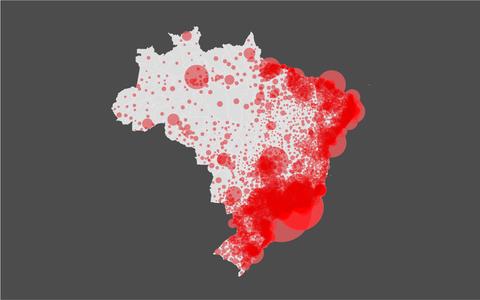 O crescimento da população brasileira desde o século 19