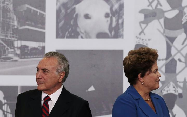 Vice-presidente Michel Temer e presidente Dilma Rousseff
