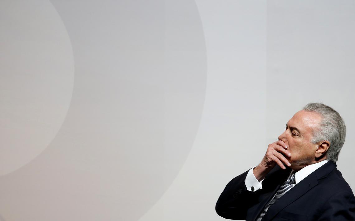 Presidente Michel Temer durante evento do Banco Santander em São Paulo