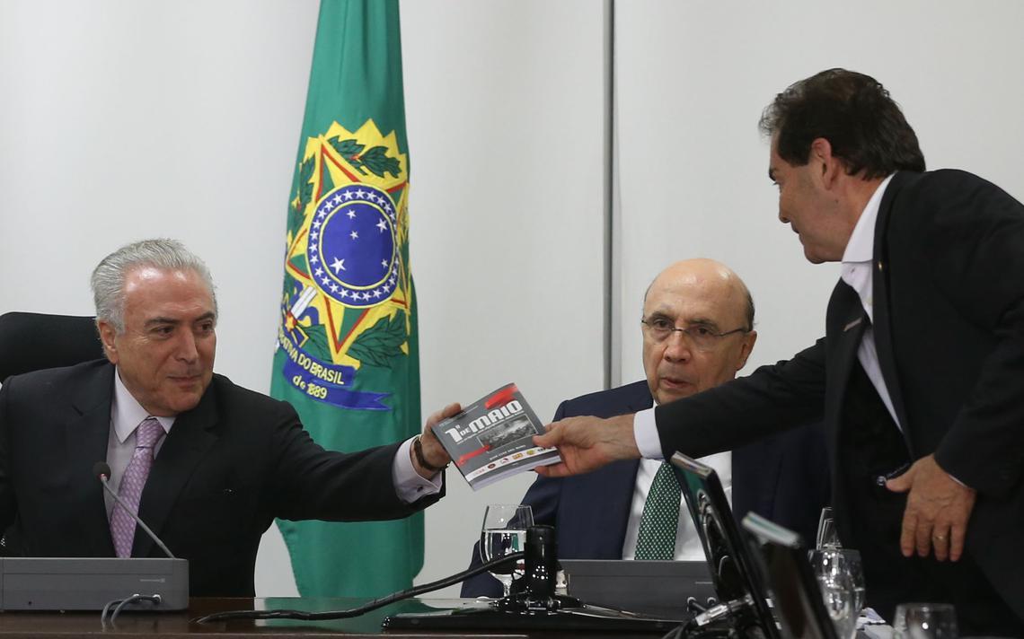 Presidente Michel Temer e o deputado Paulinho da Força (SD-SP)