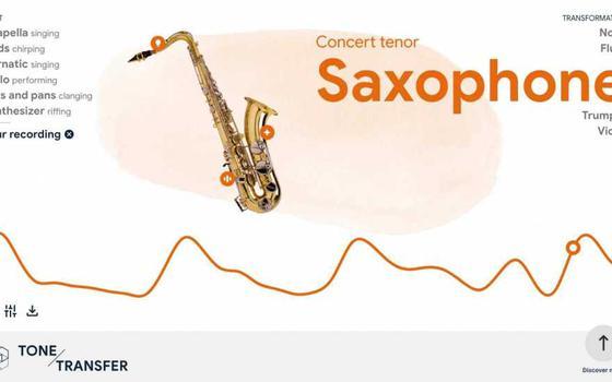 O site que adapta qualquer som para instrumentos musicais