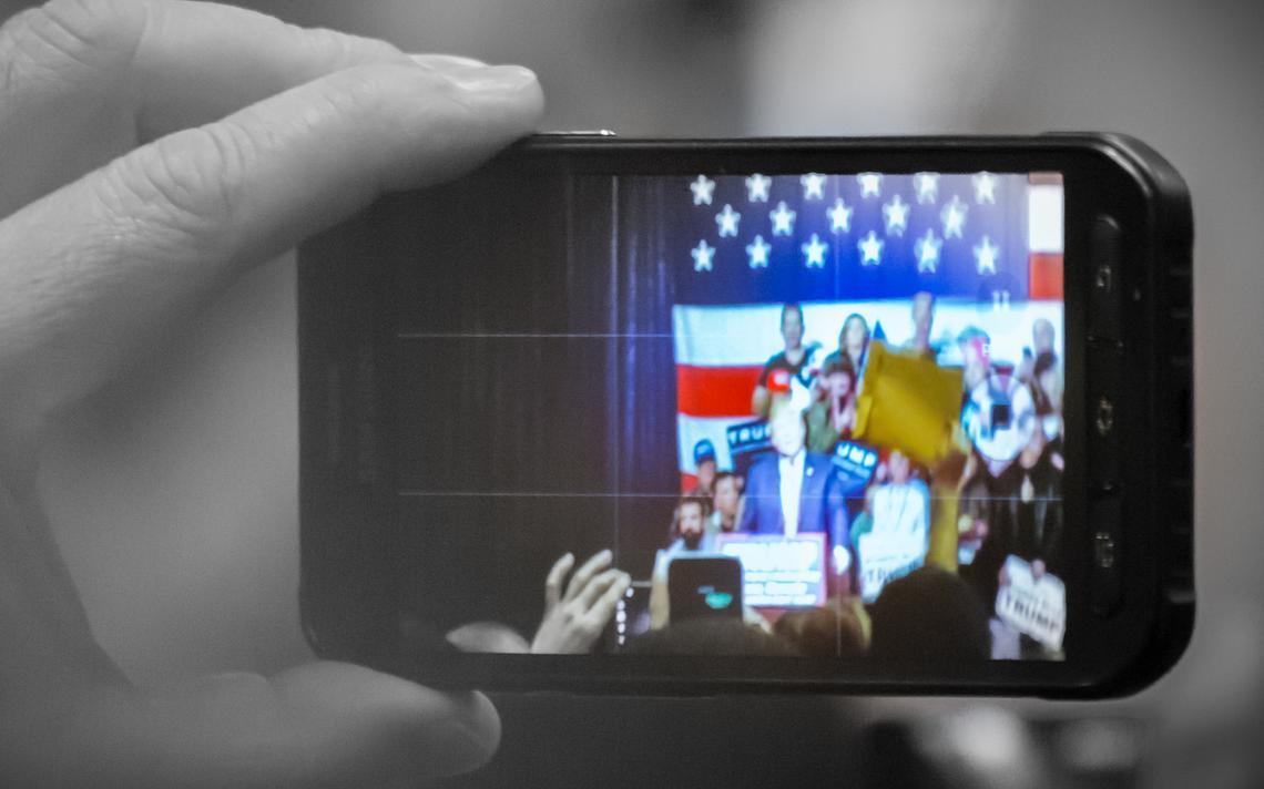 Donald Trump em campanha no estado americano de Nevada, em janeiro de 2016