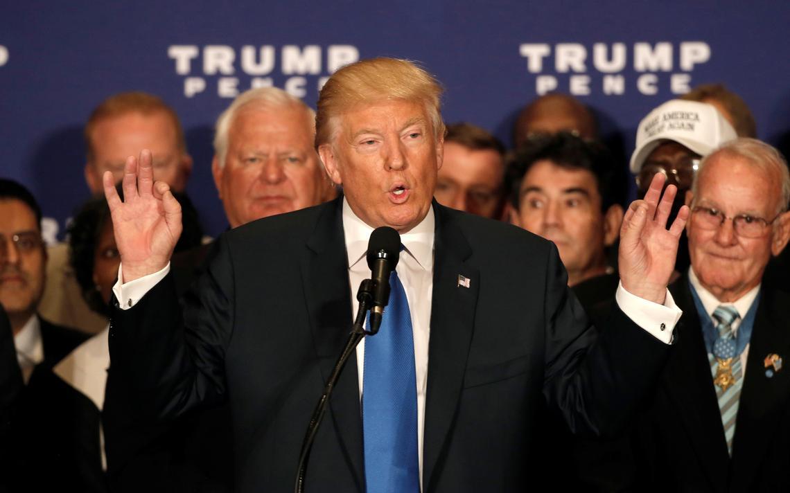Candidato republicano falou com a imprensa sobre o atual presidente americano