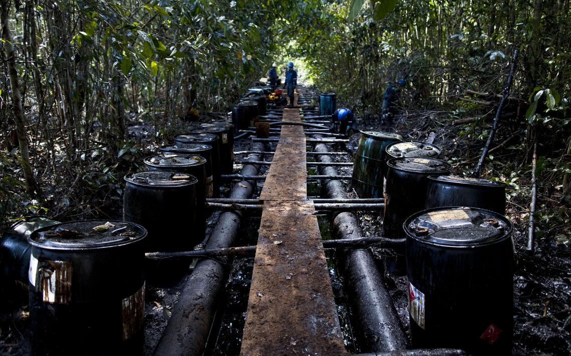 Oleoduto danificado no Peru