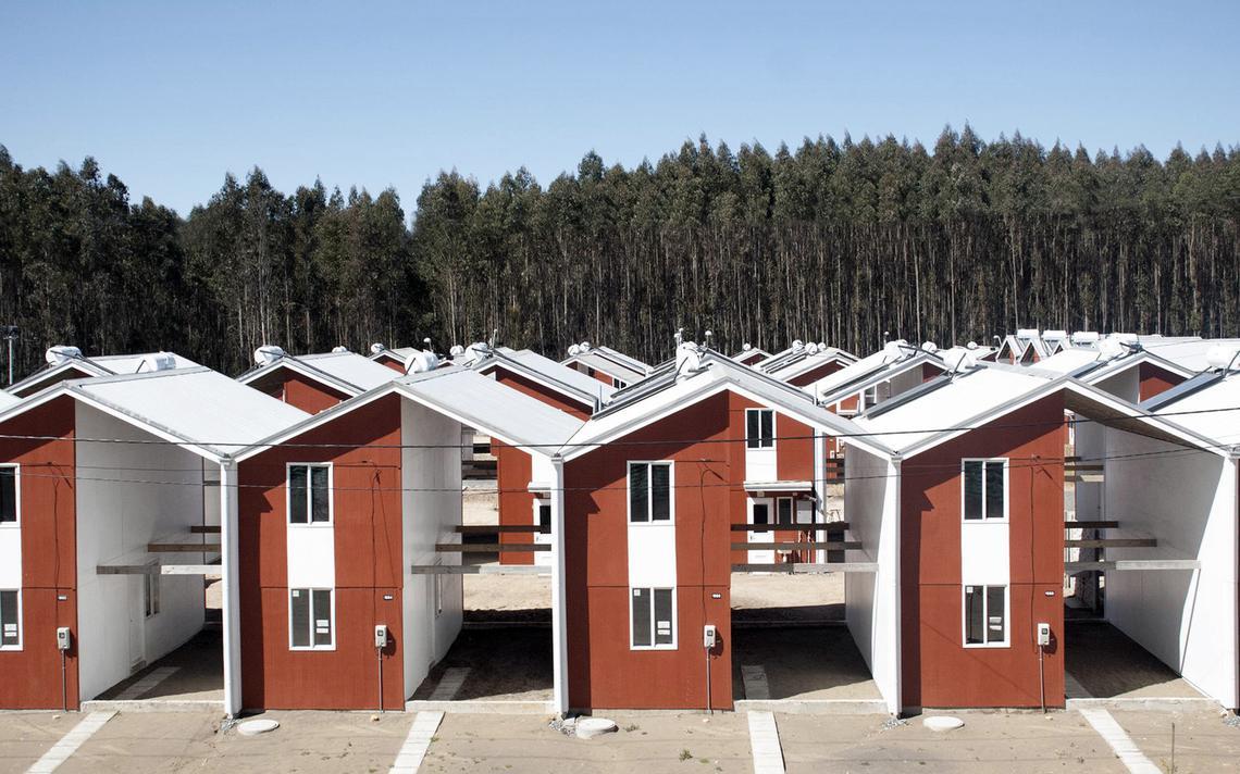 Projeto habitacional no Chile tem casas de 57m² que podem crescer para 85m²