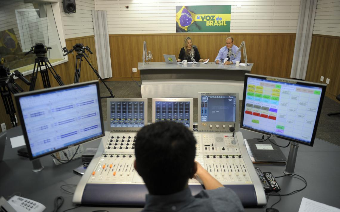 Gravação do programa 'A Voz do Brasil'