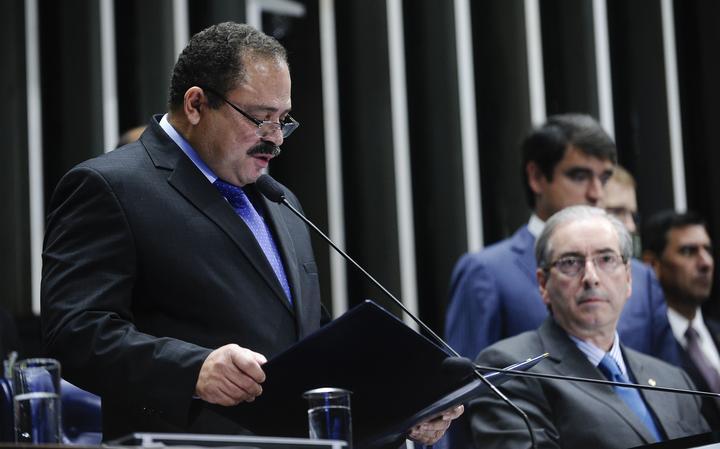 Deputado federal Waldir Maranhão (PP-MA) e deputado Eduardo Cunha