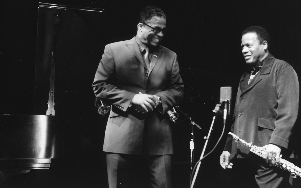Wayne Shorter e Herbie Hancock em show no Kuumbwa Jazz, na Califórnia, EUA
