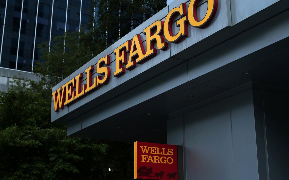 Frente de agência do Wells Fargo